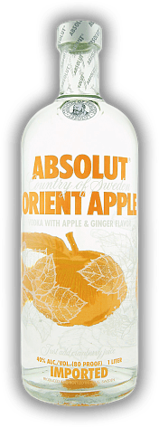 Absolut Orient Apple Vodka with Apple & Ginger Flavor 1,0 Liter
