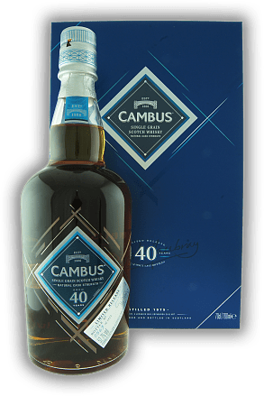 Cambus 40 Years Limited Release Natural Cask Strength 52,7% Distilled 1975