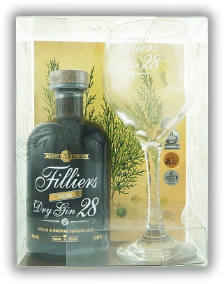 Filliers Dry Gin 28 Classic mit Copa Glas