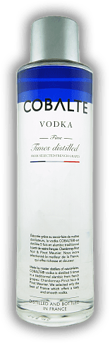 Cobalte Vodka Distilled from selected French Grapes