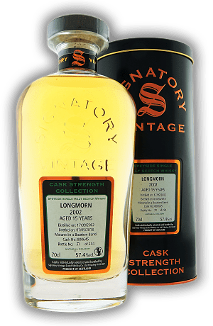 Longmorn Signatory Cask Strength Collection 15 Years 2002/2018 57,4%