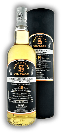 Pulteney Signatory Vinatge Un-Chillfiltered Collection 10 Years 2008/2019