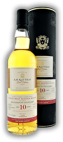 Miltonduff A.D. Rattray 10 Years Bourbon Barrel 2008/2019 61,1%