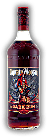 Captain Morgan Black Label Dark Rum 1,0 Liter