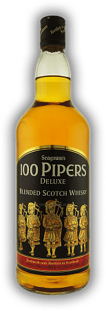Seagram's 100 Pipers De Lux 1,0 Liter
